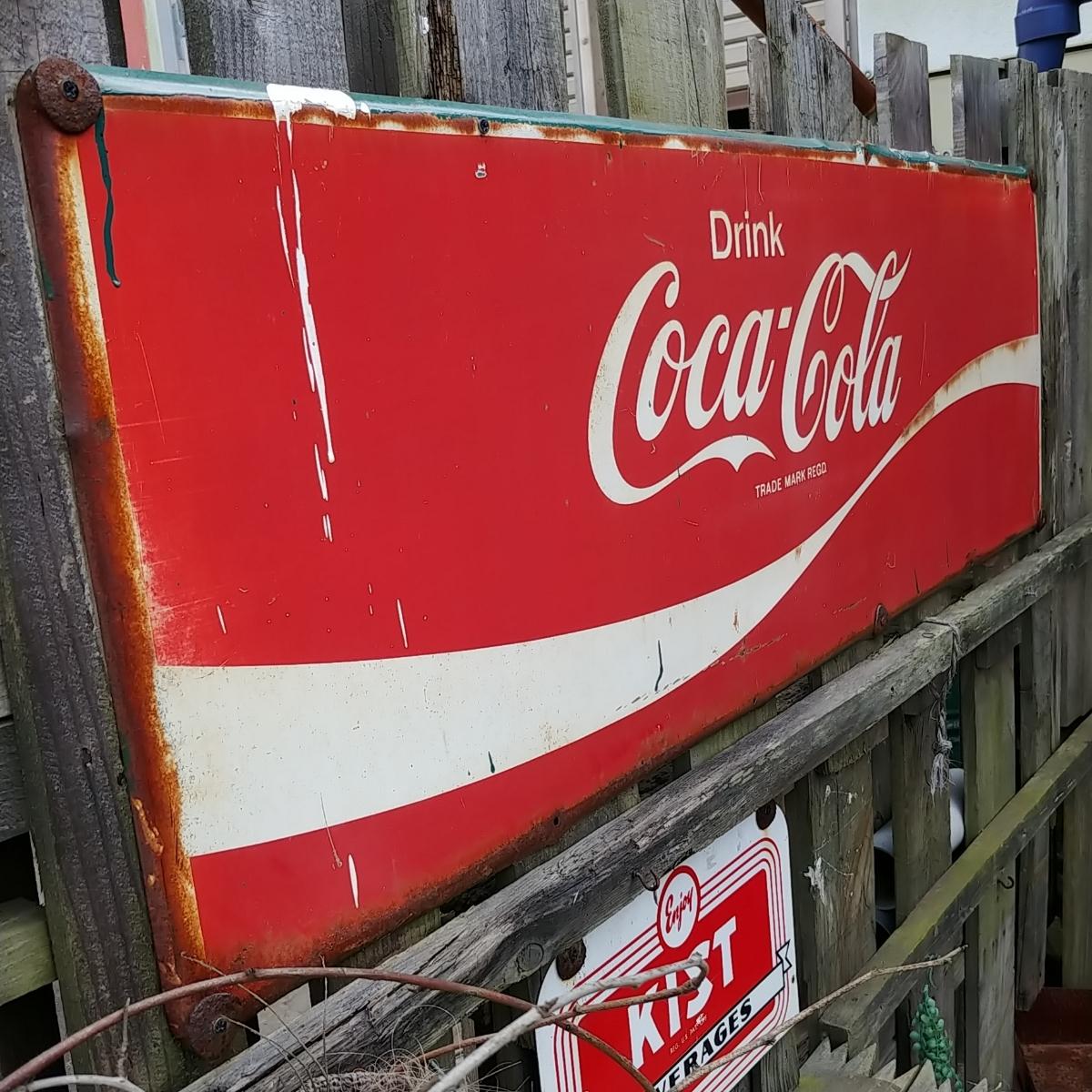 ☆AMERICAN VINTAGE SING☆Coca-Cola (コカ・コーラ)大型 フロント看板(非売品)#店舗什器#世田谷ベース #ガレージライフ_画像3