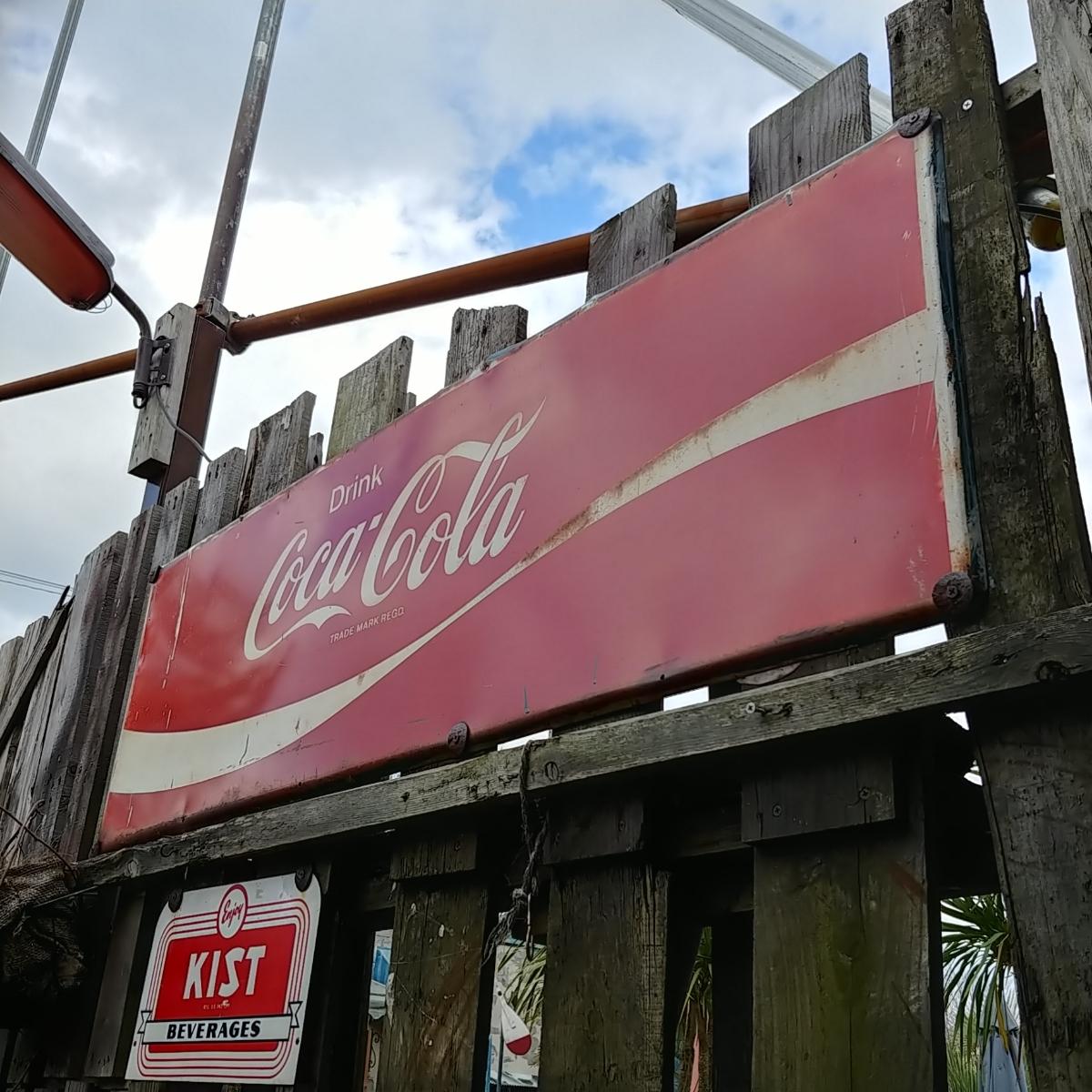 ☆AMERICAN VINTAGE SING☆Coca-Cola (コカ・コーラ)大型 フロント看板(非売品)#店舗什器#世田谷ベース #ガレージライフ_画像5
