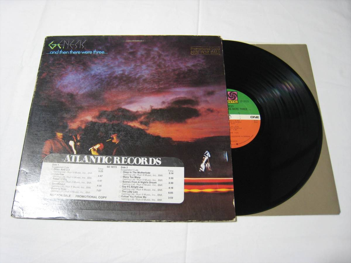 【LP】●プロモ● GENESIS / ..AND THEN THERE WERE THREE... US盤 ジェネシス そして三人が残った FOLLOW YOU FOLLOW ME 収録_画像1