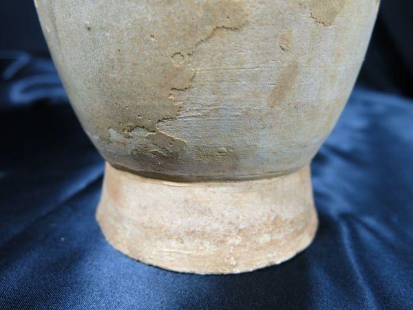 日月壺 蓋付き 宋~元時代 遺跡発掘品 白磁 焼き物 釉薬 副葬品 埋蔵文化財_画像5