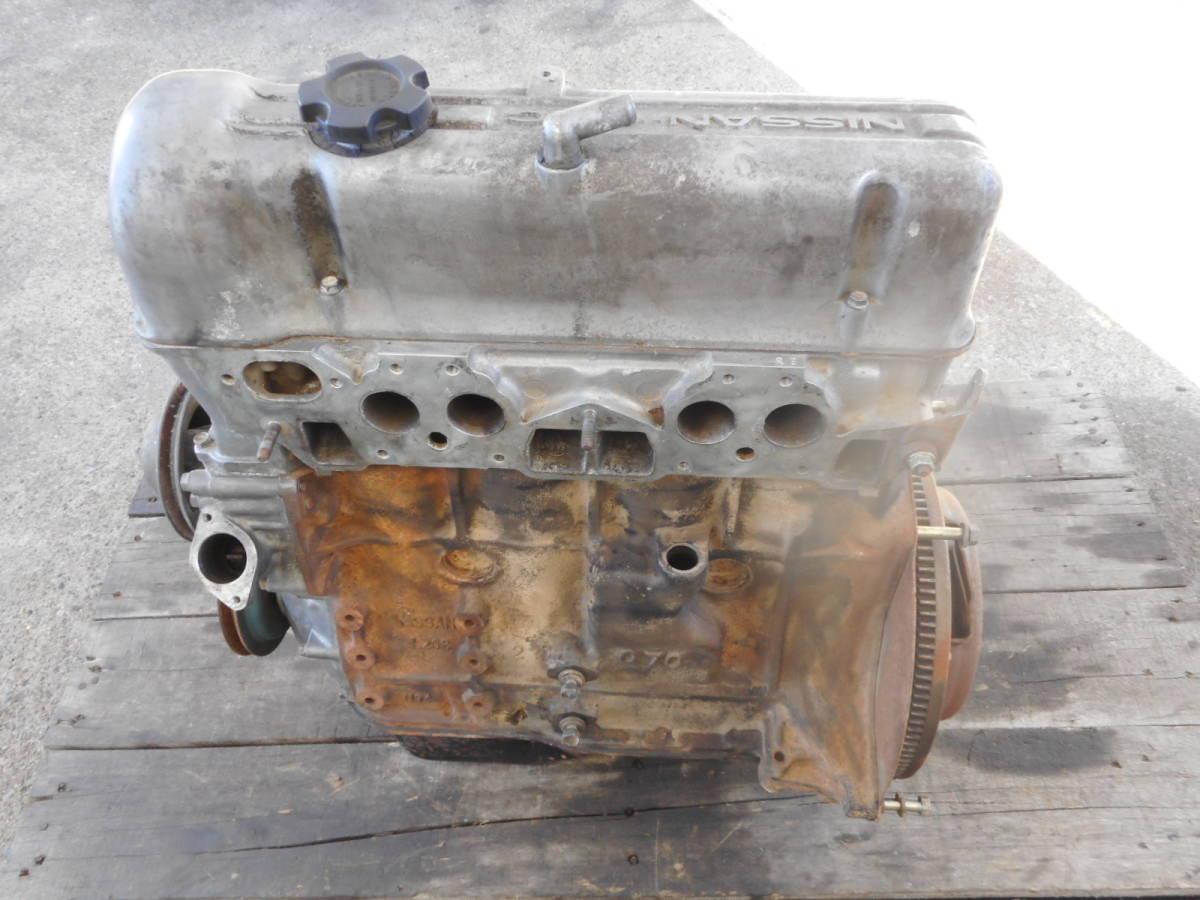 日産 純正 L20B エンジン本体 ブロックU94 ヘッドV91 ブルーバード スカイライン 中古品_画像2