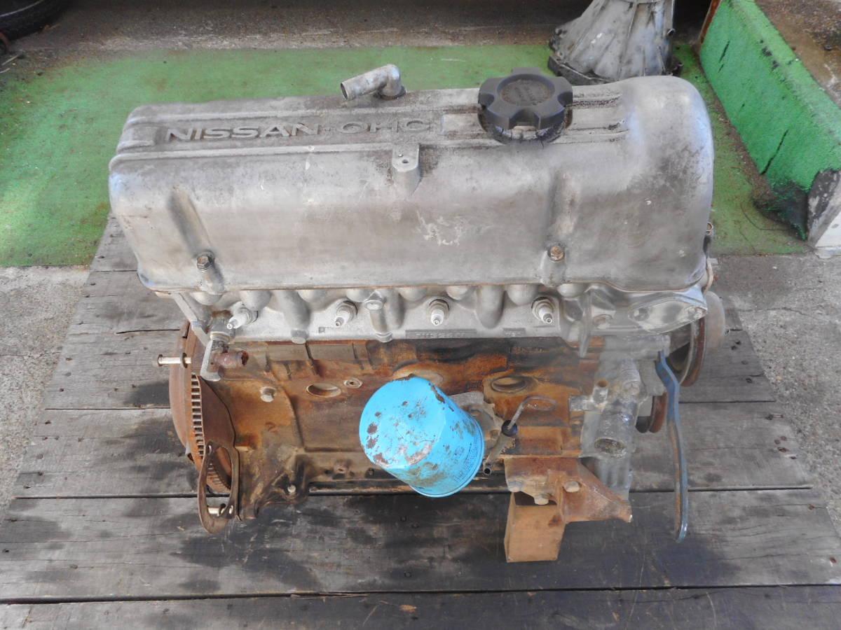 日産 純正 L20B エンジン本体 ブロックU94 ヘッドV91 ブルーバード スカイライン 中古品