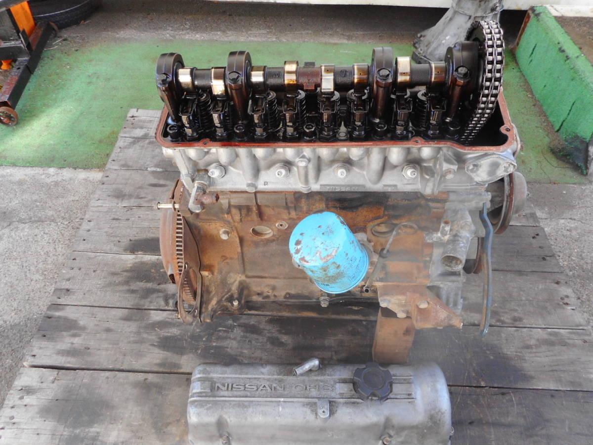 日産 純正 L20B エンジン本体 ブロックU94 ヘッドV91 ブルーバード スカイライン 中古品_画像8