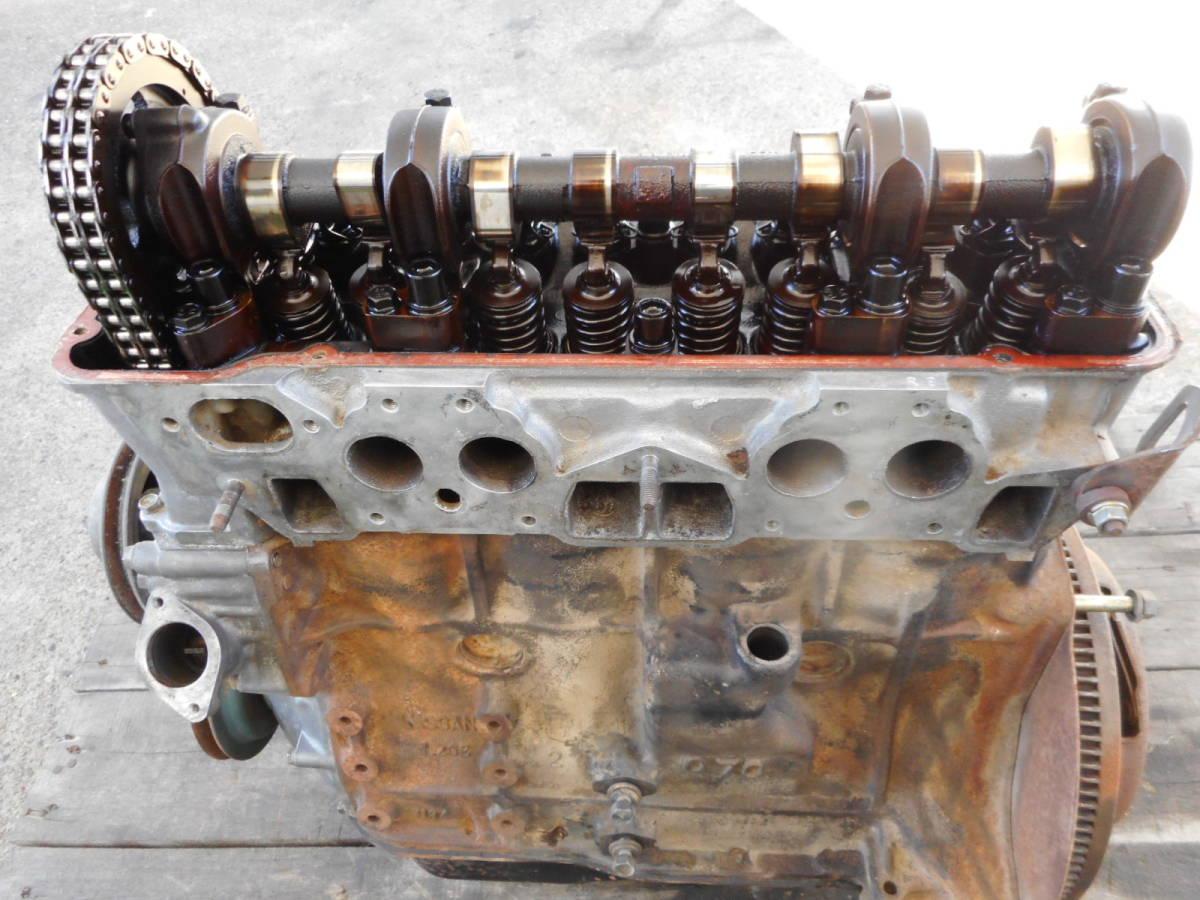 日産 純正 L20B エンジン本体 ブロックU94 ヘッドV91 ブルーバード スカイライン 中古品_画像9