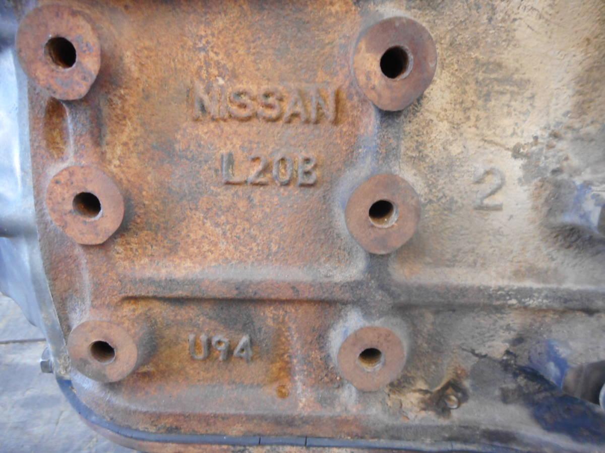 日産 純正 L20B エンジン本体 ブロックU94 ヘッドV91 ブルーバード スカイライン 中古品_画像6