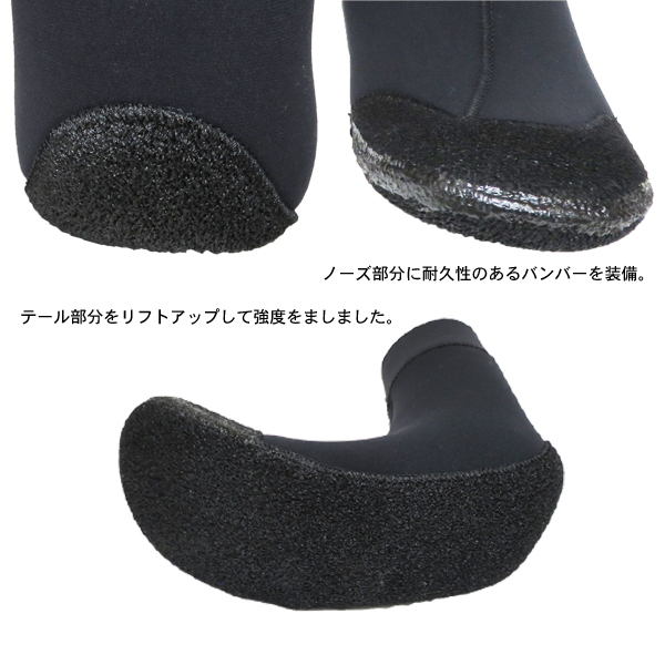 BEANS SOFT BOOTS 3MM from WESTSUITS サーフブーツ/SIZE:L/ストレスフリーで真冬のサーフィンを楽しめるアイテムです!_画像3