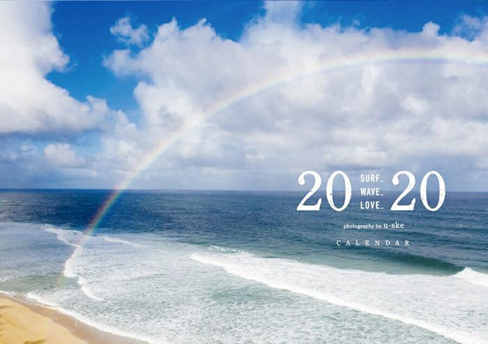 送料無料!!/写心家/U-Ske/2020/サーフィンフォトカレンダー/surf/waves/love/メール便対応 /自然や海のバイブレーションを感じる!_画像1