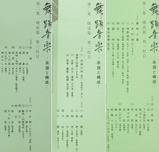 美盤 第二十回芸術祭参加 日本舞踊音楽 系譜と構成 第二集 構成篇 監修:河竹繁俊、構成・解説:郡司正勝・望月太意之助 1965年 BOX3LP_画像7