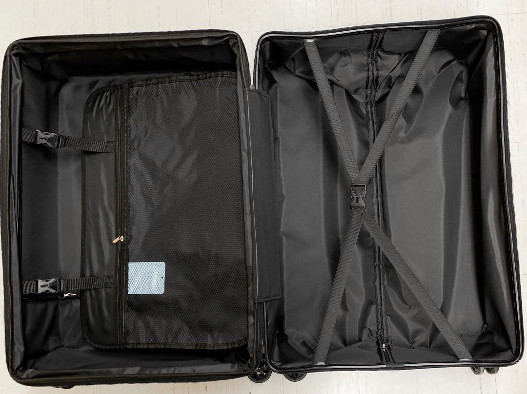 小型軽量スーツケース8輪静音キャリーバッグ 機内持ち込みSサイズ 黒_画像7