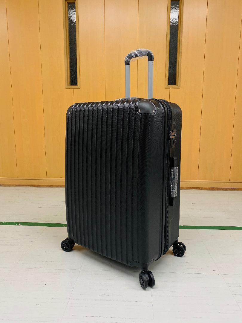 小型軽量スーツケース8輪静音キャリーバッグ 機内持ち込みSサイズ 黒_画像1