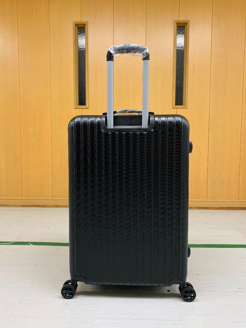 小型軽量スーツケース8輪静音キャリーバッグ 機内持ち込みSサイズ 黒_画像2