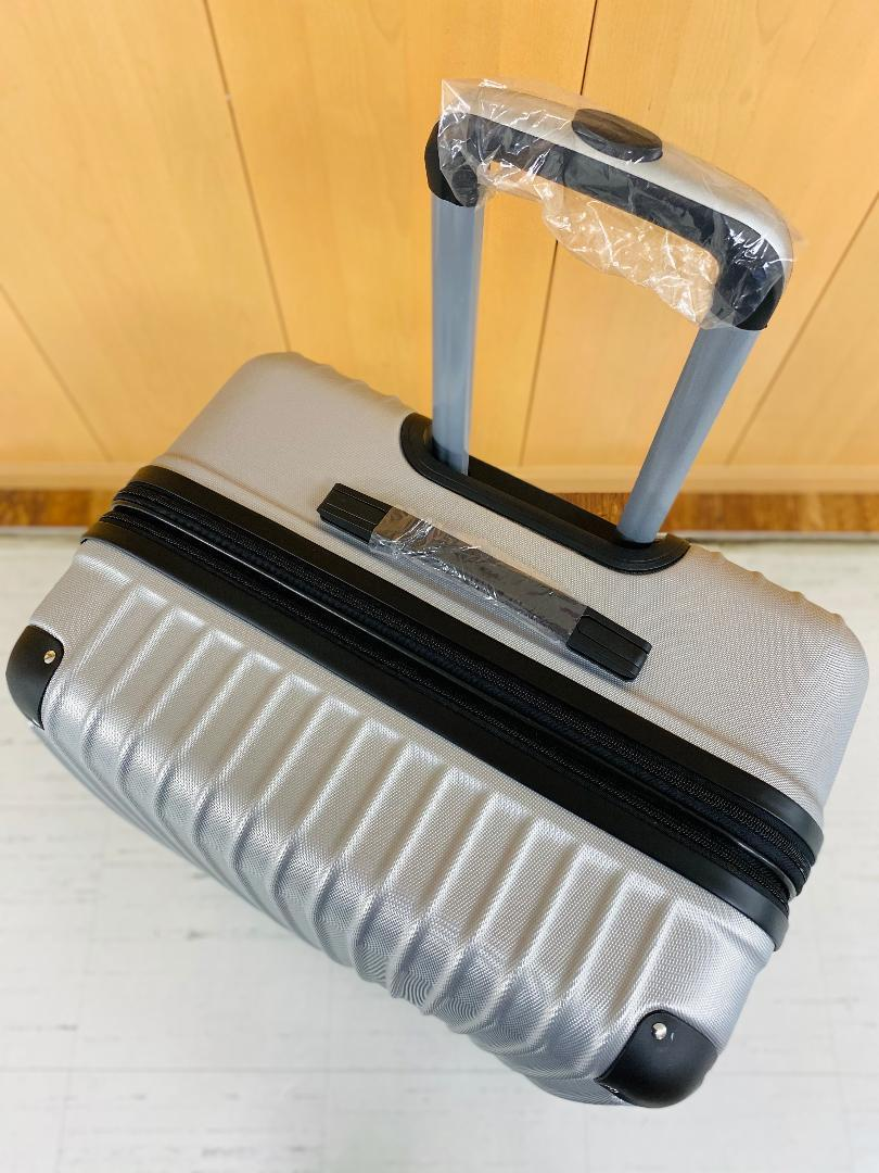 小型軽量スーツケース8輪静音キャリーバッグ 機内持ち込みSサイズ 黒_画像4