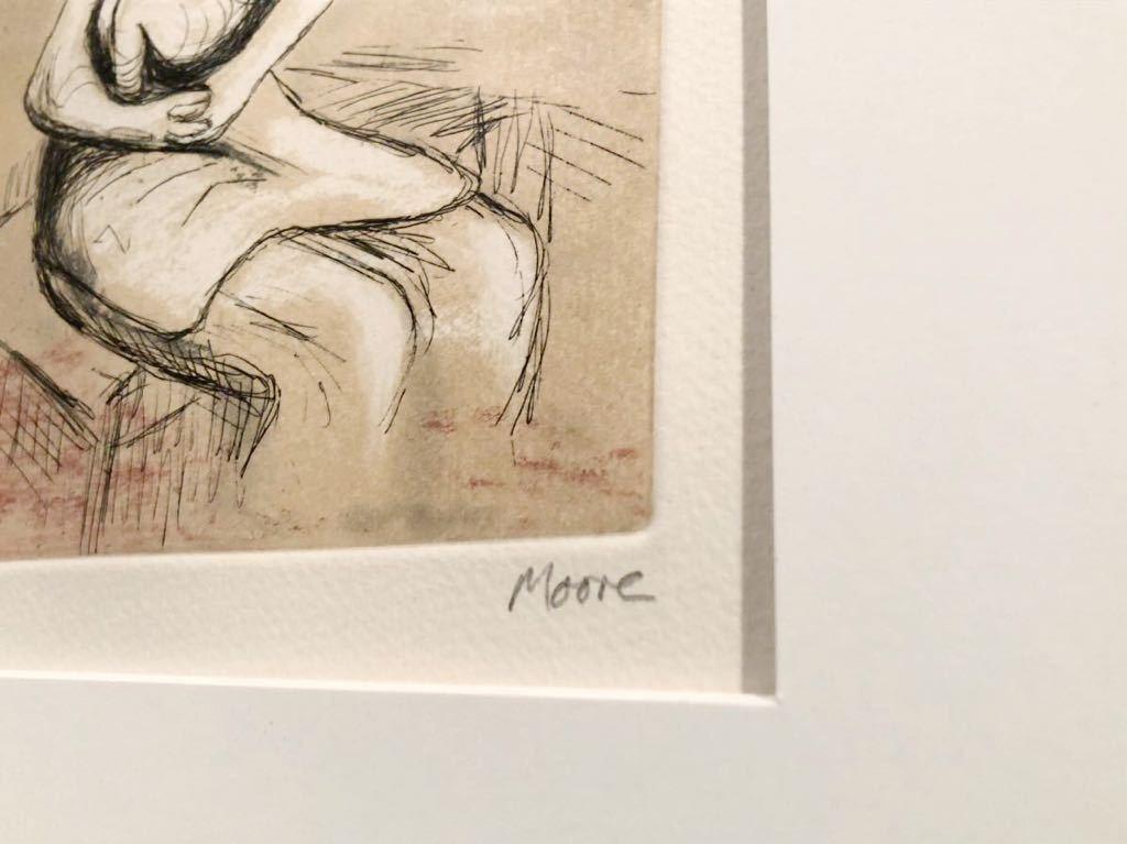 ヘンリー・ムーア 銅版画 「Mother and Child Ⅲ」 直筆サイン エディション 真作保証 Henry Moore カラーエッチング_画像4