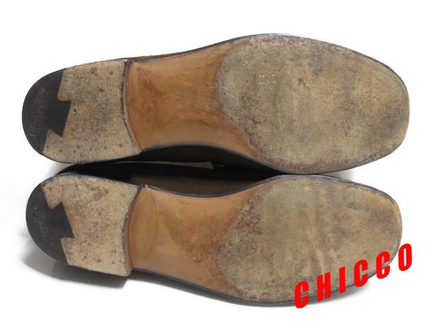 即決★25cm イタリア製 Church's チャーチ コインローファー メンズ 6.5 茶 本革 スエード ペニーローファー ビジネスシューズ レザー 革靴_画像4