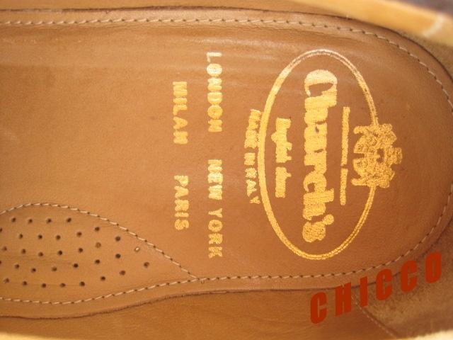 即決★25cm イタリア製 Church's チャーチ コインローファー メンズ 6.5 茶 本革 スエード ペニーローファー ビジネスシューズ レザー 革靴_画像9