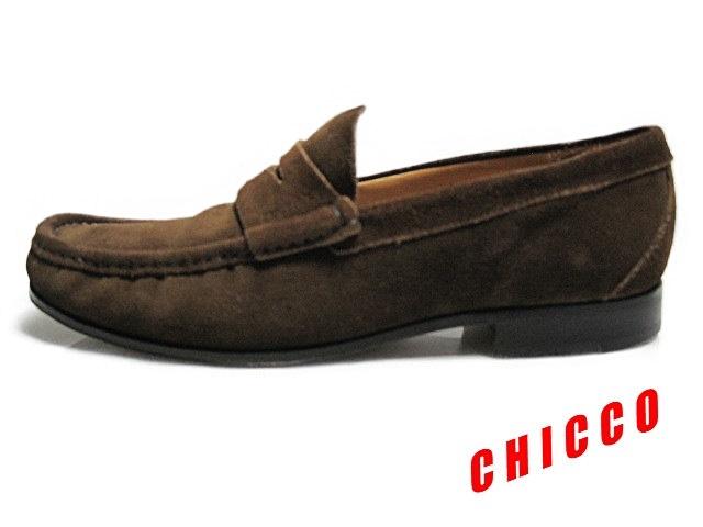 即決★25cm イタリア製 Church's チャーチ コインローファー メンズ 6.5 茶 本革 スエード ペニーローファー ビジネスシューズ レザー 革靴_画像3