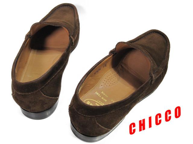 即決★25cm イタリア製 Church's チャーチ コインローファー メンズ 6.5 茶 本革 スエード ペニーローファー ビジネスシューズ レザー 革靴_画像2