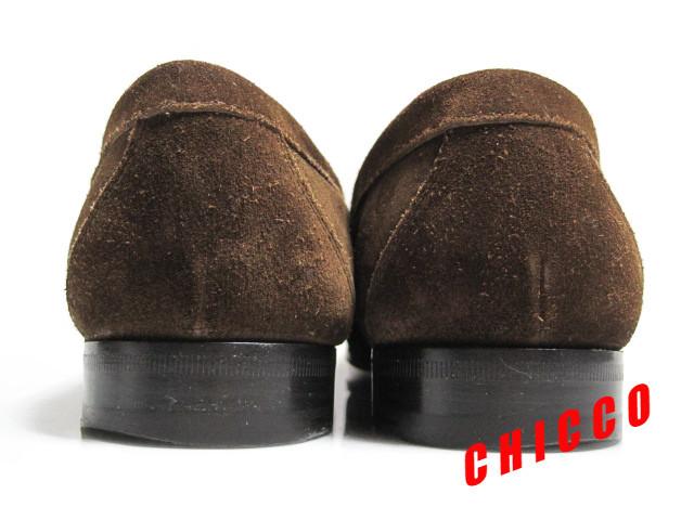 即決★25cm イタリア製 Church's チャーチ コインローファー メンズ 6.5 茶 本革 スエード ペニーローファー ビジネスシューズ レザー 革靴_画像7