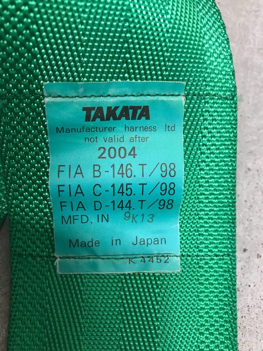 TAKATA タカタ 4点式シートベルト レーシングハーネス 中古