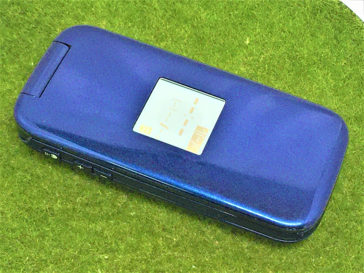 d366【☆美品・サマーセール☆】■初期化OK・簡易清掃OK・判定OK■docomo F-08C らくらくホン ブルー FUJITSU 中古 ガラケー 携帯 ドコモ_表面部分に細かなキズあり