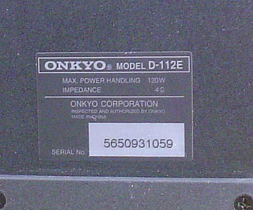 ONKYO/コンパクトサイズ・スピーカーシステム『D-112E』×2_画像9