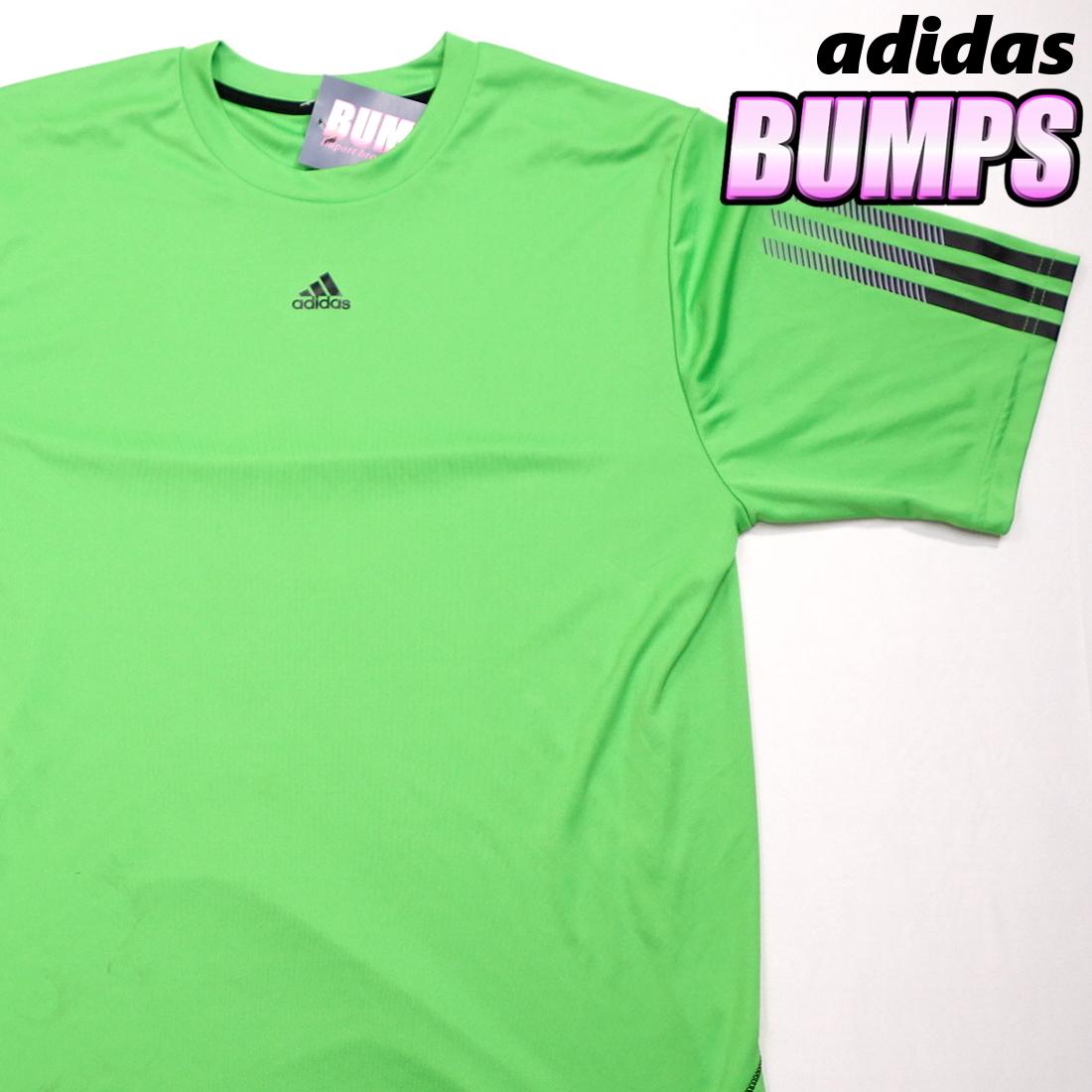 アディダス adidas Tシャツ 半袖 メンズ M クルーネック ワンポイントロゴ 三本ライン スポーツ カジュアル USA直輸入 古着 MAD-1-1-0037_画像1
