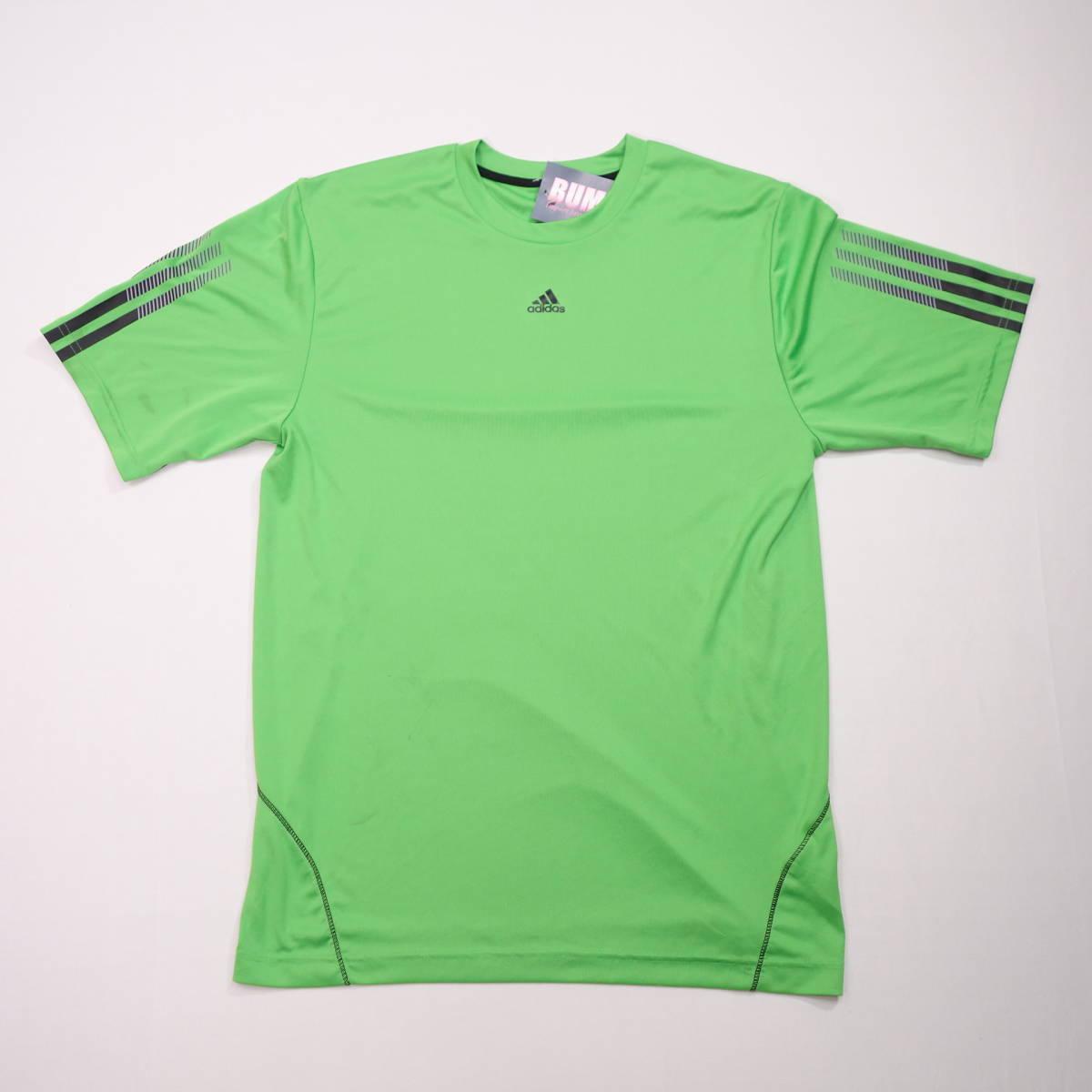 アディダス adidas Tシャツ 半袖 メンズ M クルーネック ワンポイントロゴ 三本ライン スポーツ カジュアル USA直輸入 古着 MAD-1-1-0037_画像2