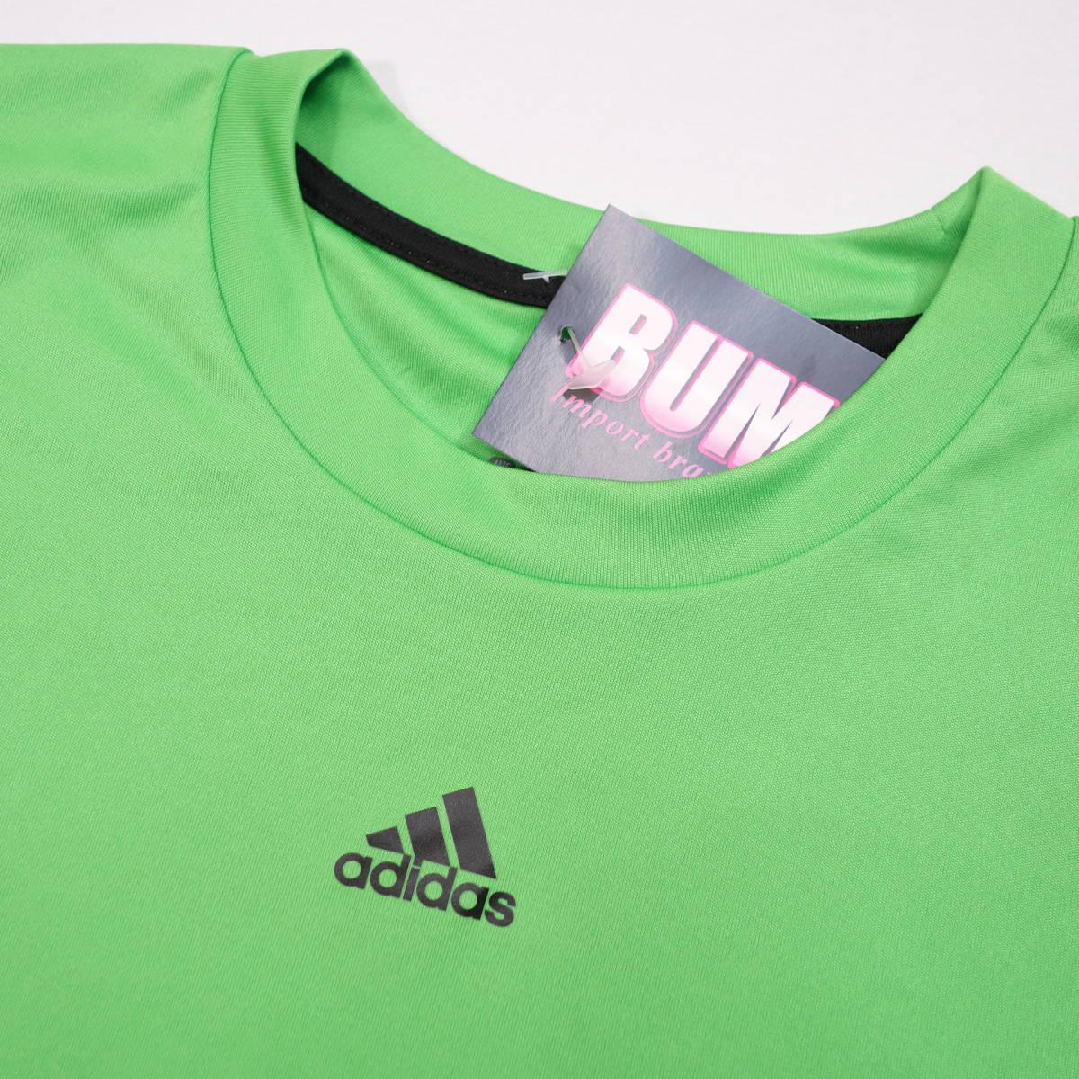 アディダス adidas Tシャツ 半袖 メンズ M クルーネック ワンポイントロゴ 三本ライン スポーツ カジュアル USA直輸入 古着 MAD-1-1-0037_画像4