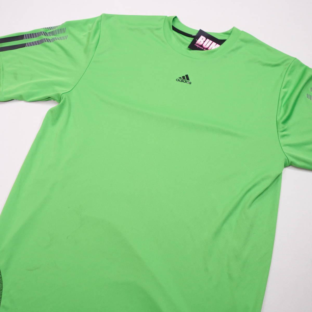 アディダス adidas Tシャツ 半袖 メンズ M クルーネック ワンポイントロゴ 三本ライン スポーツ カジュアル USA直輸入 古着 MAD-1-1-0037_画像3