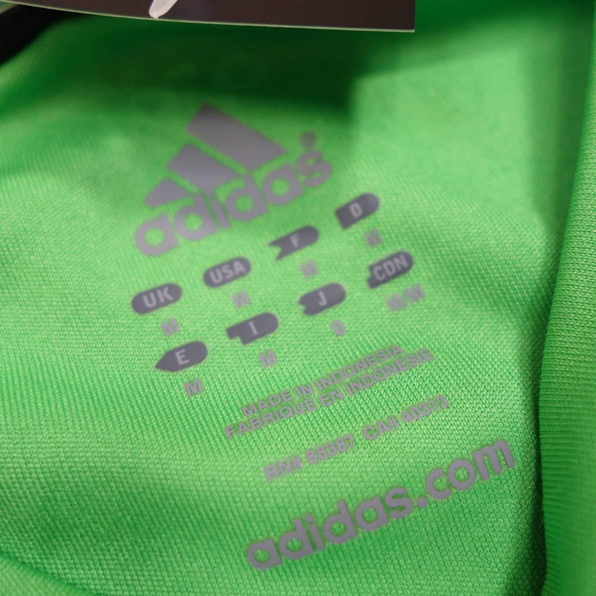 アディダス adidas Tシャツ 半袖 メンズ M クルーネック ワンポイントロゴ 三本ライン スポーツ カジュアル USA直輸入 古着 MAD-1-1-0037_画像5