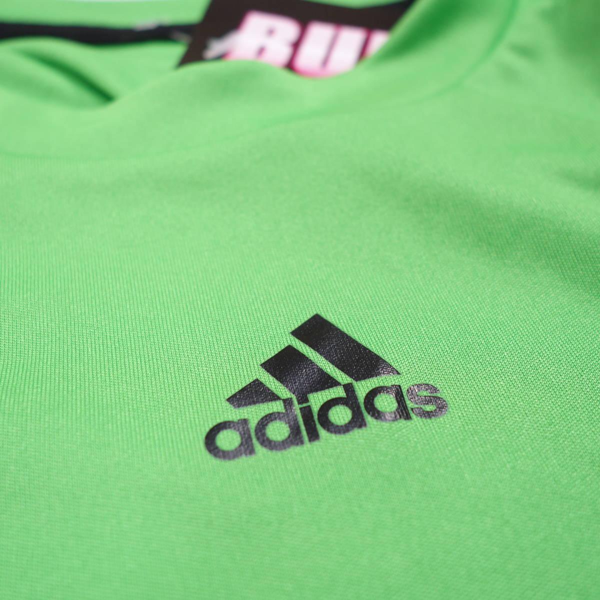 アディダス adidas Tシャツ 半袖 メンズ M クルーネック ワンポイントロゴ 三本ライン スポーツ カジュアル USA直輸入 古着 MAD-1-1-0037_画像6
