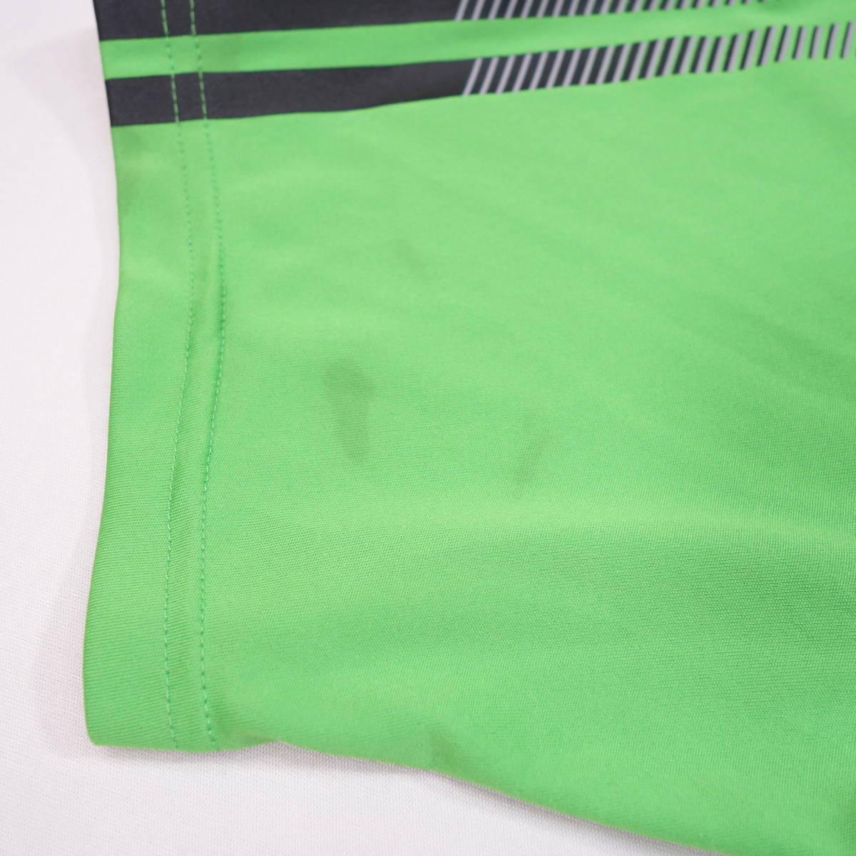 アディダス adidas Tシャツ 半袖 メンズ M クルーネック ワンポイントロゴ 三本ライン スポーツ カジュアル USA直輸入 古着 MAD-1-1-0037_画像8