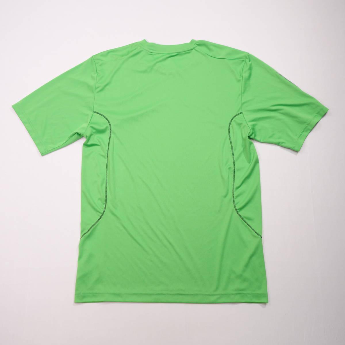 アディダス adidas Tシャツ 半袖 メンズ M クルーネック ワンポイントロゴ 三本ライン スポーツ カジュアル USA直輸入 古着 MAD-1-1-0037_画像10