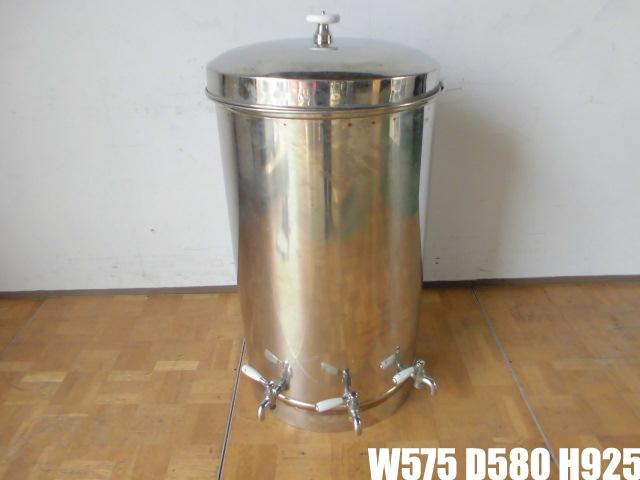 中古厨房 貯蔵タンク 蛇口3本付き 醸造 貯水 貯湯 W575×D580×H925mm_画像1