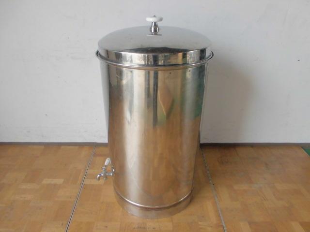 中古厨房 貯蔵タンク 蛇口3本付き 醸造 貯水 貯湯 W575×D580×H925mm_画像4