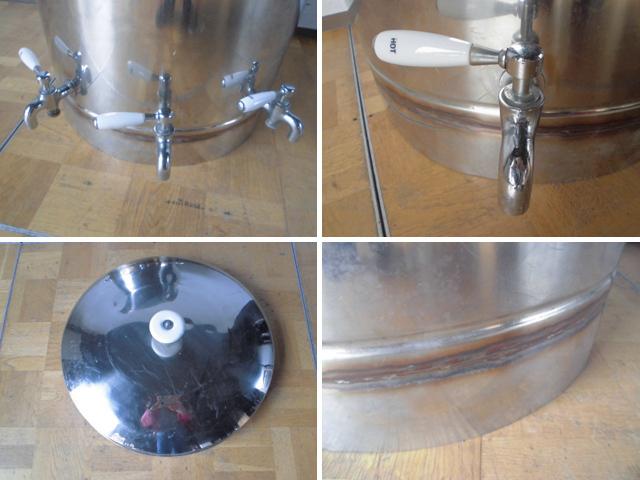 中古厨房 貯蔵タンク 蛇口3本付き 醸造 貯水 貯湯 W575×D580×H925mm_画像3