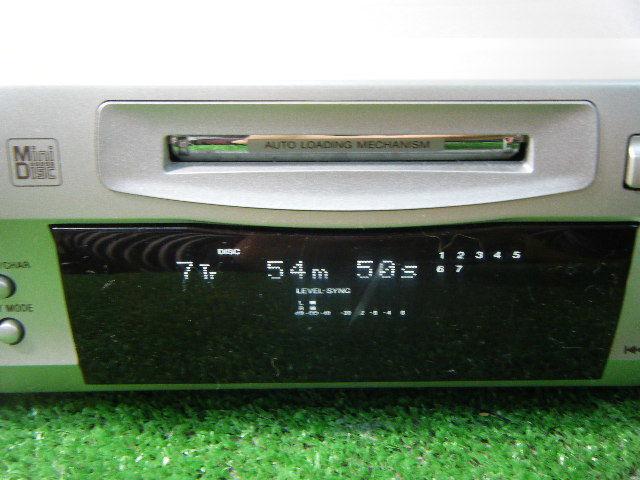3ゆ73●動作良好●SONY ソニー MDS-S39 MDデッキ 幅280x高さ90x奥行287mm オーディオ機器_画像2