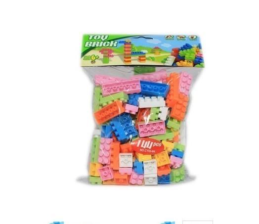 F554 60グラム約70個 プラスチック製のビルディングブロックブリック 子供子供教育 パズルおもちゃモデルビルキットキッズギフト_画像8