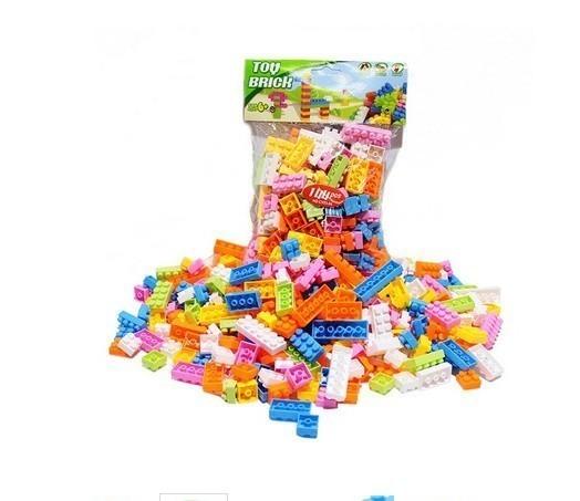 F554 60グラム約70個 プラスチック製のビルディングブロックブリック 子供子供教育 パズルおもちゃモデルビルキットキッズギフト_画像2