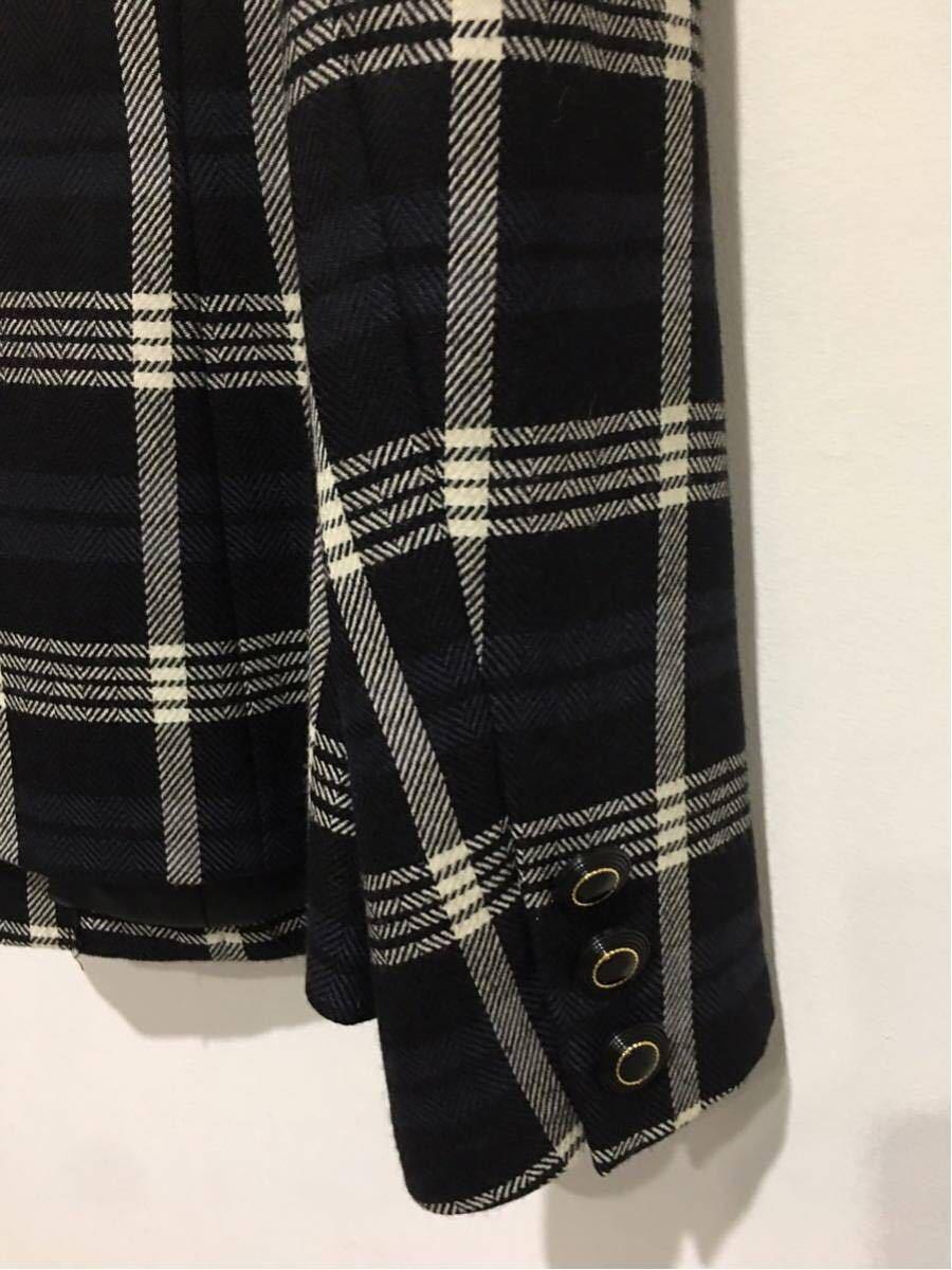 ★美品 REMALON レマロン ミセス・婦人 ノーカラージャケット タイトスカート 日本製 大きいサイズ セットアップスーツ 毛100% _画像8