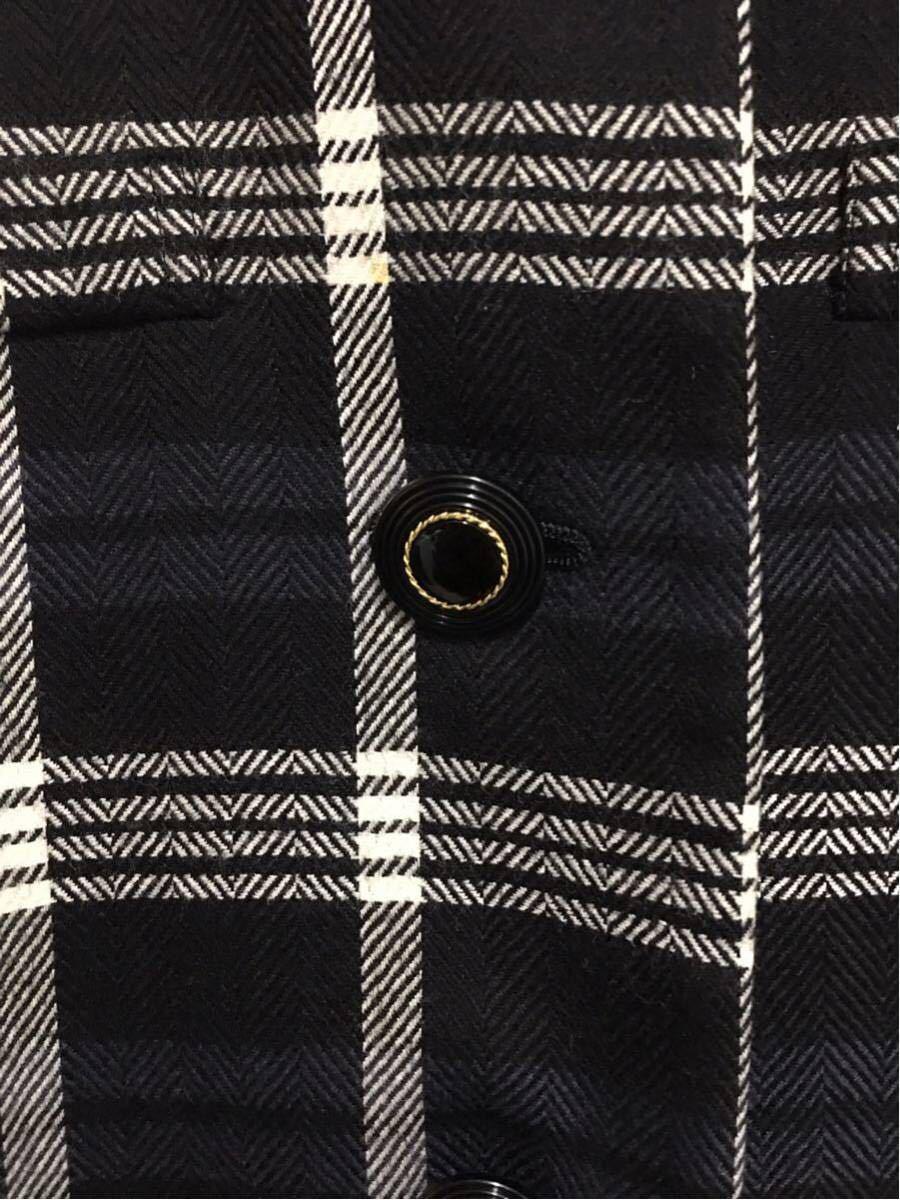 ★美品 REMALON レマロン ミセス・婦人 ノーカラージャケット タイトスカート 日本製 大きいサイズ セットアップスーツ 毛100% _画像5