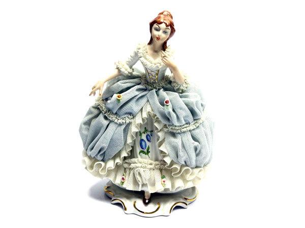 ドレスデン レースドール レース人形 磁器人形 フィギュリン Reine Handarbeit_画像1