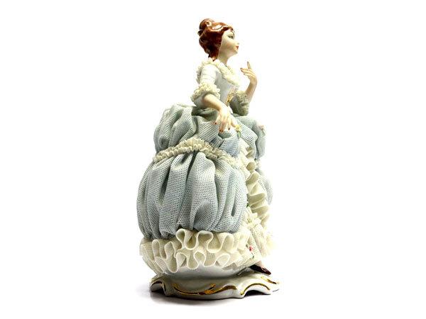 ドレスデン レースドール レース人形 磁器人形 フィギュリン Reine Handarbeit_画像4