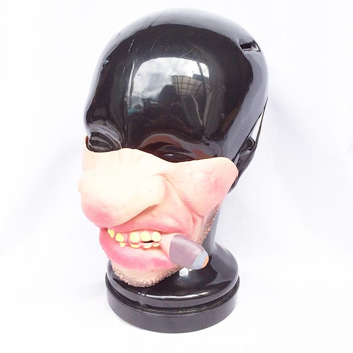 タバコ ハーフマスク パーティーグッズ ハロウィン コスプレ コスプレイヤー マスク お面 1950_画像1
