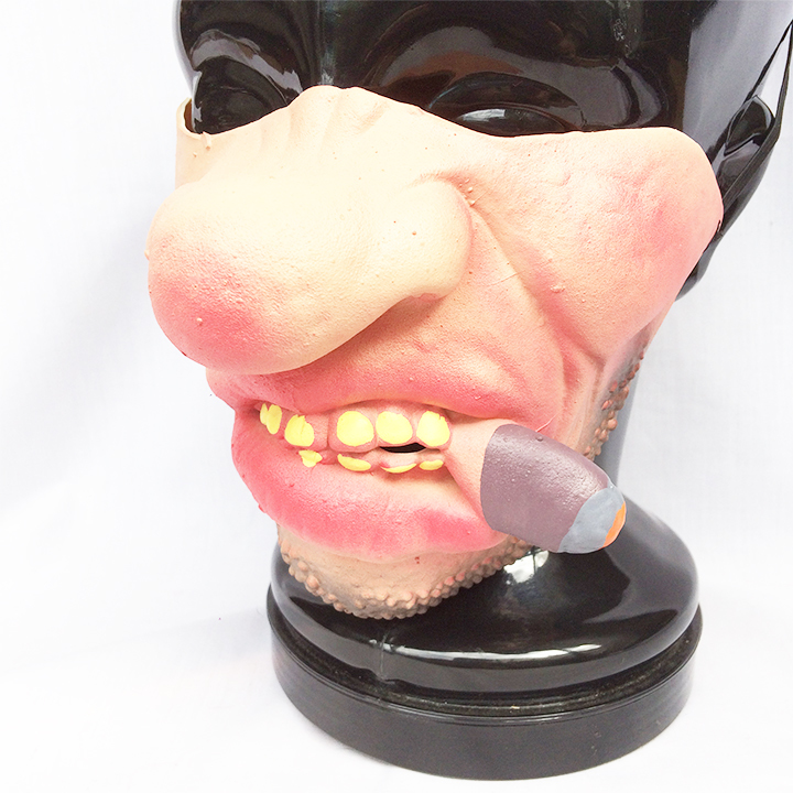 タバコ ハーフマスク パーティーグッズ ハロウィン コスプレ コスプレイヤー マスク お面 1950_画像2