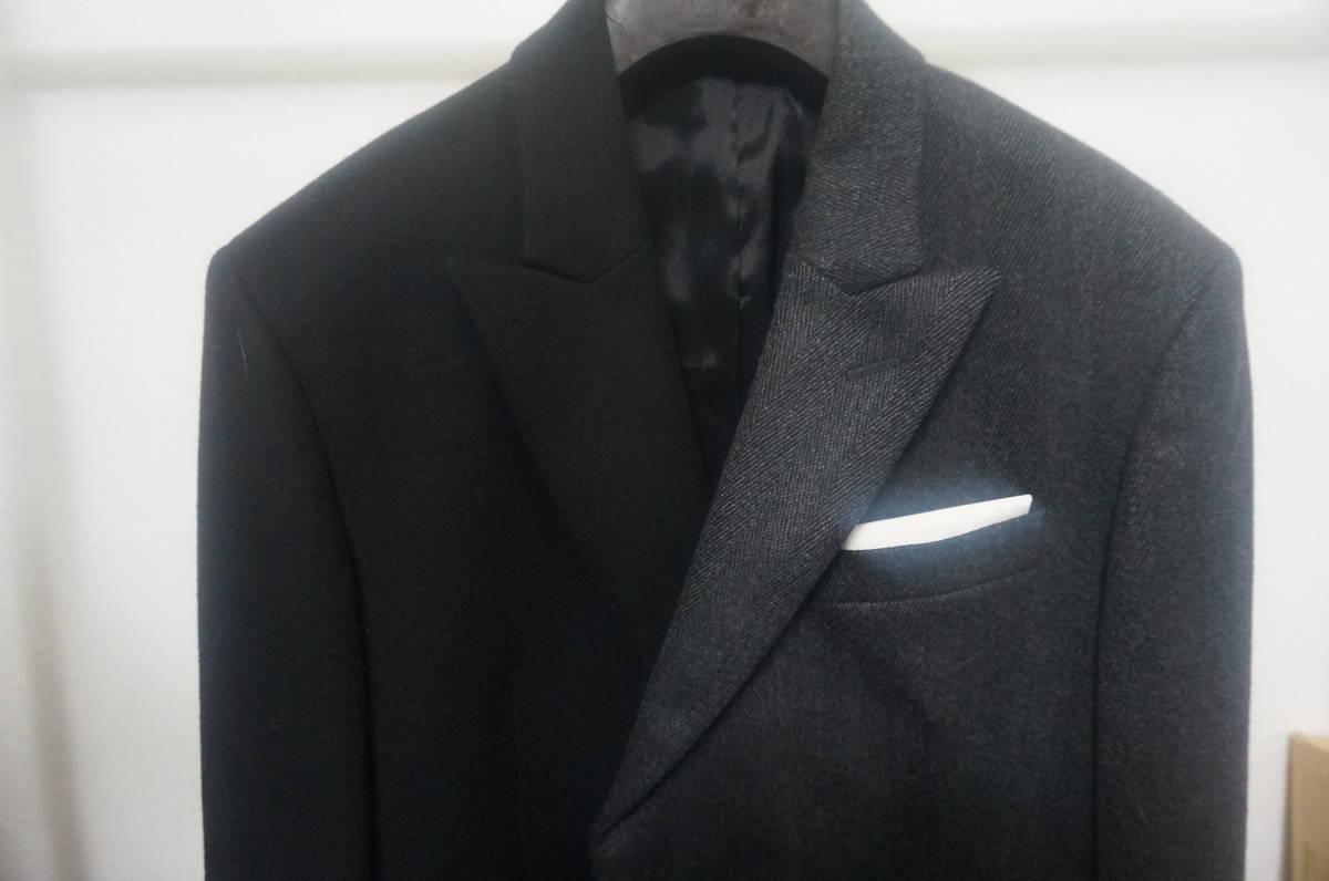 NeIL BarreTT アシメトリー ダブル ウール ジャケット 44 黒×グレー