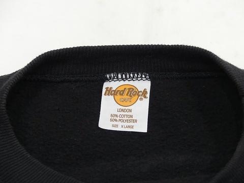 大き目サイズ 美品 90s ビンテージ Hard Rock CAFE LONDON ハードロック カフェ オフィシャル スウェット XL 70s 80s_画像4