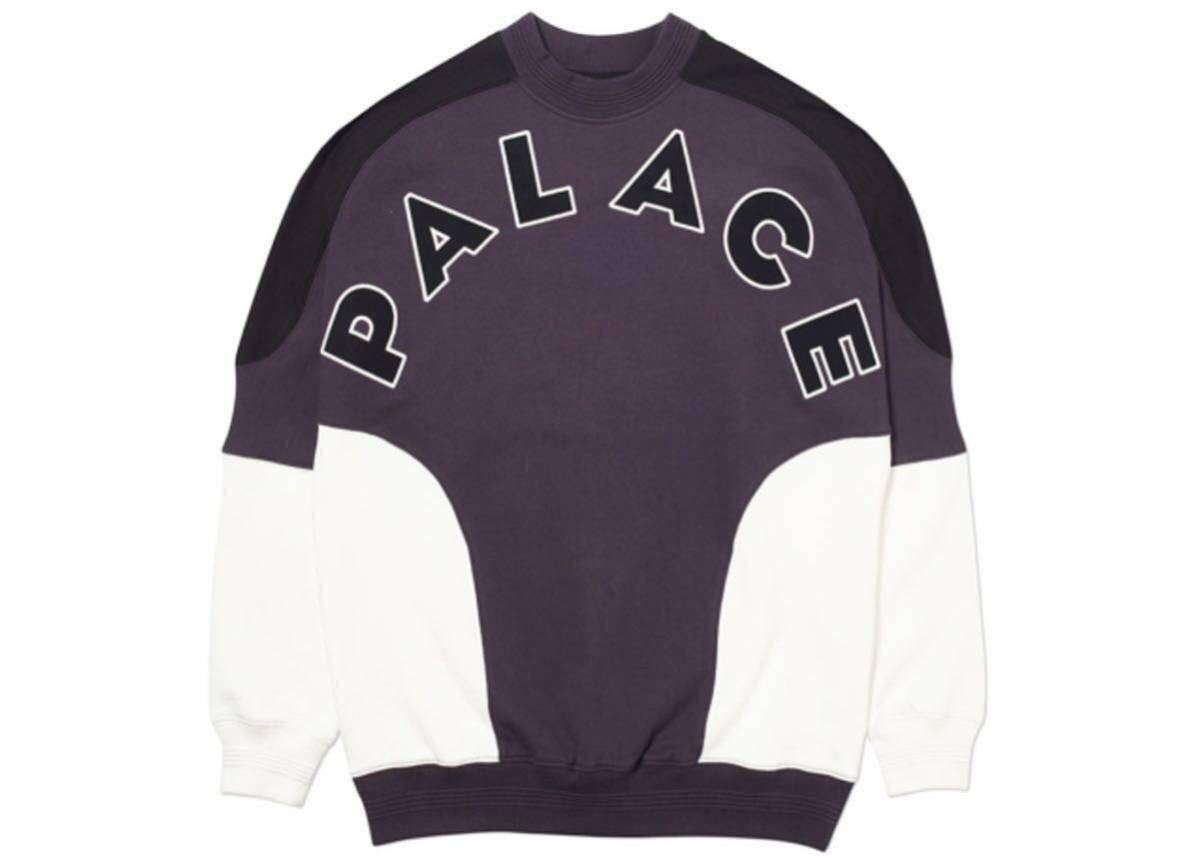 【1円スタート】【新品未開封】Palace skateboards ROUNDHOUSE 2 DA FACE CREWNECK BLACK / WHITE L サイズ min nano LQQK STUDIO wtaps