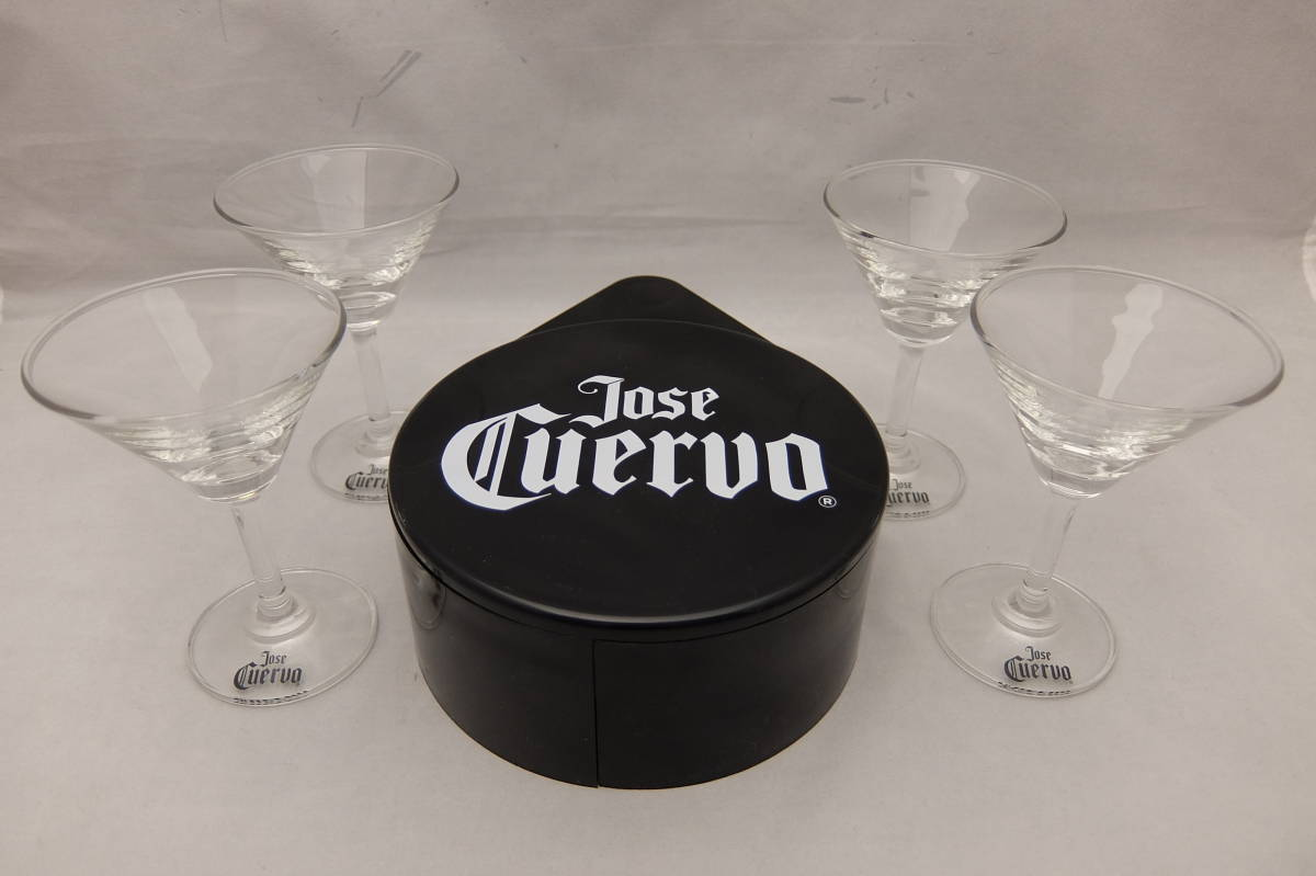Not for sale ★ new simple snow style Cuervo tequila Gurasurima & cocktail glass set of 4 Jose Cuervo Tequila bar supplies Margarita
