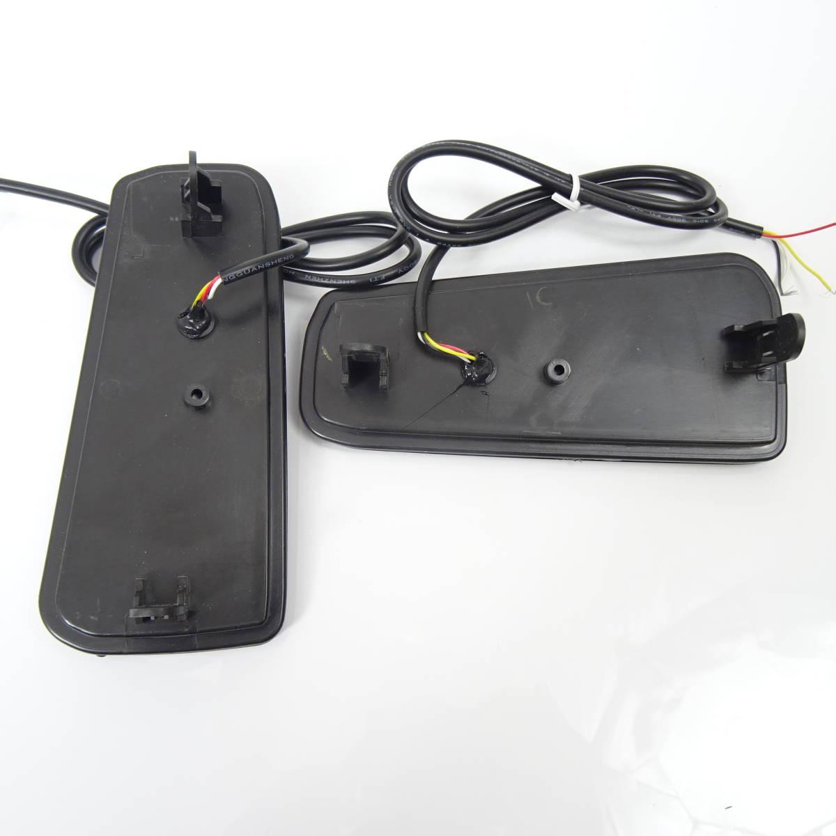 スモーク 流れる ファイバー LED リフレクター リアバンパー ライト ランプ シーケンシャルウインカー アルファード30 ヴェルファイア30 _画像2